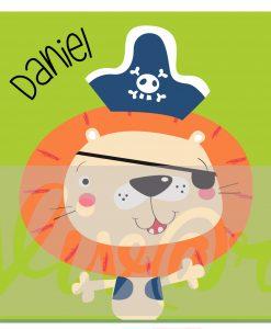 Cuadro leon pirata